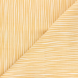 Cloud 9 Flannel Fabric Northerly - mustard yellow Soft Stripes x 10cm