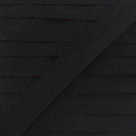 Biais tout textile 20 mm - noir x 1m
