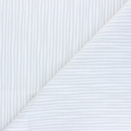 Cloud 9 Flannel Fabric Northerly - pearly grey Soft Stripes x 10cm