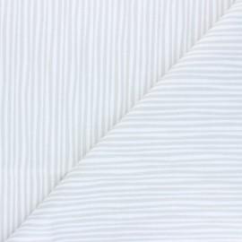 Tissu Flanelle Cloud 9 Northerly - Soft Stripes - gris perle x 10cm