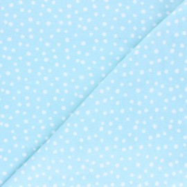 Cloud 9 Flannel Fabric Northerly - ice blue Soft Dots x 10cm
