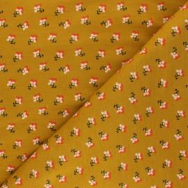 Poppy Sweatshirt fabric - mustard yellow Little Flowers x 10cm