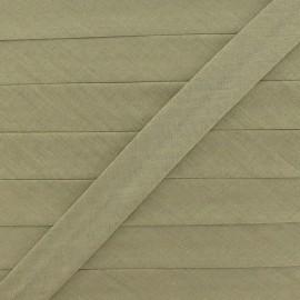 Biais tout textile 20 mm - kaki clair x 1m