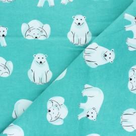 Tissu Flanelle Cloud 9 Northerly - Cute Bears - céladon x 10cm