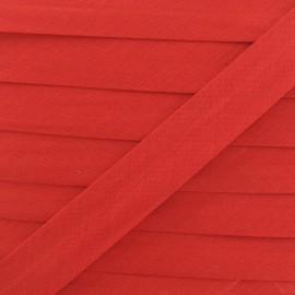 Biais tout textile 20 mm - rouge x 1m