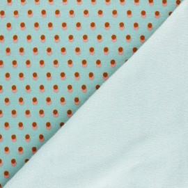 Sweatshirt with minkee fabric - celadon Eclipse x 10cm