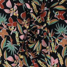 Challis By Penelope® Viscose fabric - black Miri x 10cm