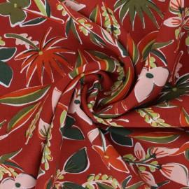 Challis By Penelope® Viscose fabric - brick red Miri x 10cm