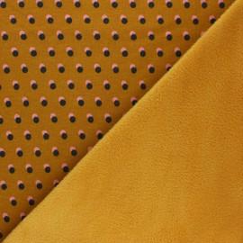 Sweatshirt with minkee fabric - mustard yellow Eclipse x 10cm