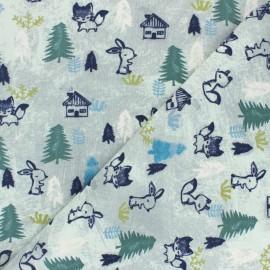 Tissu jersey Poppy Woodland - vert amande x 10cm