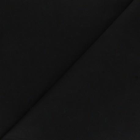 Matte elastane Gabardine fabric - black Vibrance x 10cm