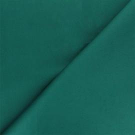 Matte elastane Gabardine fabric - emerald green Vibrance x 10cm