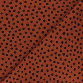 Tissu jersey Poppy Dots - roux x 10cm