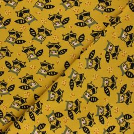 Poppy Sweatshirt fabric - mustard yellow Cookies lovers x 10cm