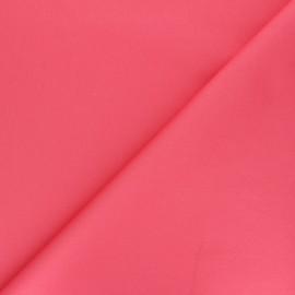 Matte elastane Gabardine fabric - coral pink Vibrance x 10cm