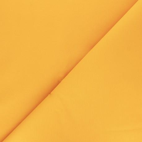 Matte elastane Gabardine fabric - yellow Vibrance x 10cm