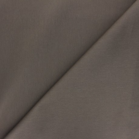 Matte elastane Gabardine fabric - taupe brown Vibrance x 10cm