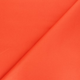Matte elastane Gabardine fabric - orange Vibrance x 10cm