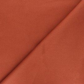 Matte elastane Gabardine fabric - rust Vibrance x 10cm