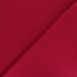 Tissu Gabardine élasthanne mat Vibrance - rouge carmin x 10cm