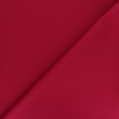 Matte elastane Gabardine fabric - carmine red Vibrance x 10cm