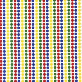 Tissu Remix Pois Primary bleu-rouge-vert-jaune