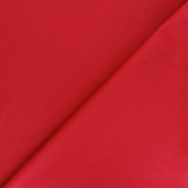 Matte elastane Gabardine fabric - red Vibrance x 10cm