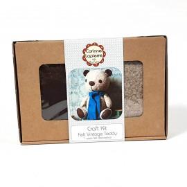 Kit créatif feutrine de laine - Teddy le Nounours