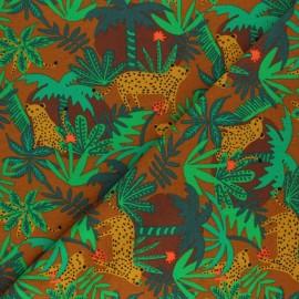 Poppy Sweatshirt fabric - green Tiger in the forest x 10cm