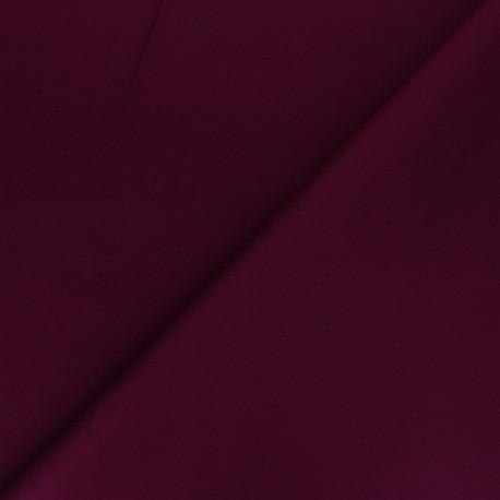 Matte elastane Gabardine fabric - wine Vibrance x 10cm