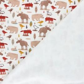 Poppy Sweatshirt with minkee fabric - raw Animals x 10cm