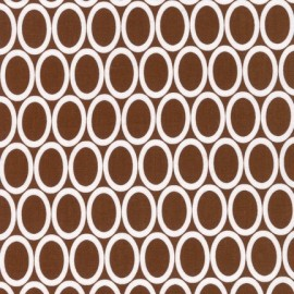 Tissu Remix Ovales Brown