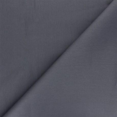 Matte elastane Gabardine fabric - anthracite Vibrance x 10cm