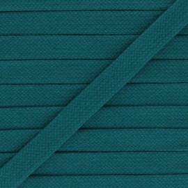 Cordon tubulaire 15 mm Thalia - bleu paon x 1m