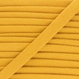 Cordon tubulaire 15 mm Thalia - jaune moutarde x 1m