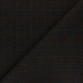 Tissu polyviscose élasthanne Liam - noir x 10cm