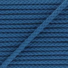 Cordon tressé 7mm Thalia - bleu x 1m
