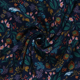 Viscose fabric Atelier Jupe - navy blue Alba x 10cm