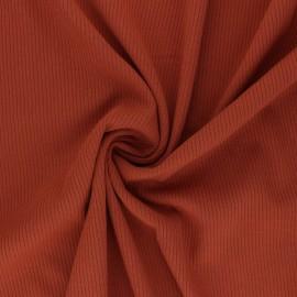 Tissu Jersey Viscose côtelé Nour - rouille x 10 cm