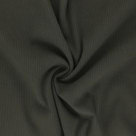 Ribbed Viscose Jersey Fabric - khaki green Nour x 10 cm