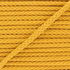 Cordon tressé 7mm Thalia - jaune moutarde x 1m