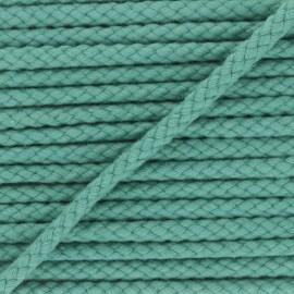 Braided cord 7mm - celadon green Thalia x 1m