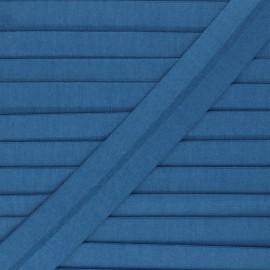 Biais jersey coton uni 20 mm Thalia - bleu x 1m