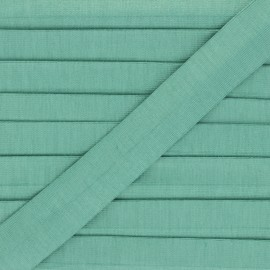 20 mm plain cotton jersey bias binding - green celadon Thalia  x 1m
