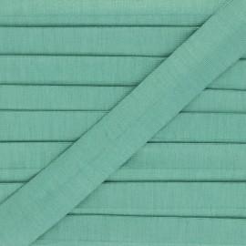 Biais jersey coton uni 20 mm Thalia - vert céladon x 1m