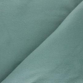 Tissu Bio Polaire Coton - vert sauge x 10cm