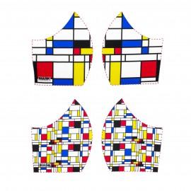 Art mask cotton fabric - Mondrian