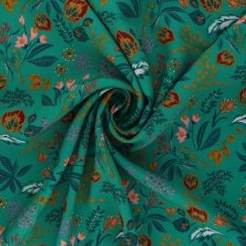 Viscose fabric Atelier Jupe - green Alba x 10cm