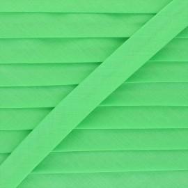Biais tout textile 20 mm - vert printemps x 1m