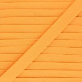 Biais tout textile 20 mm - mandarine x 1m